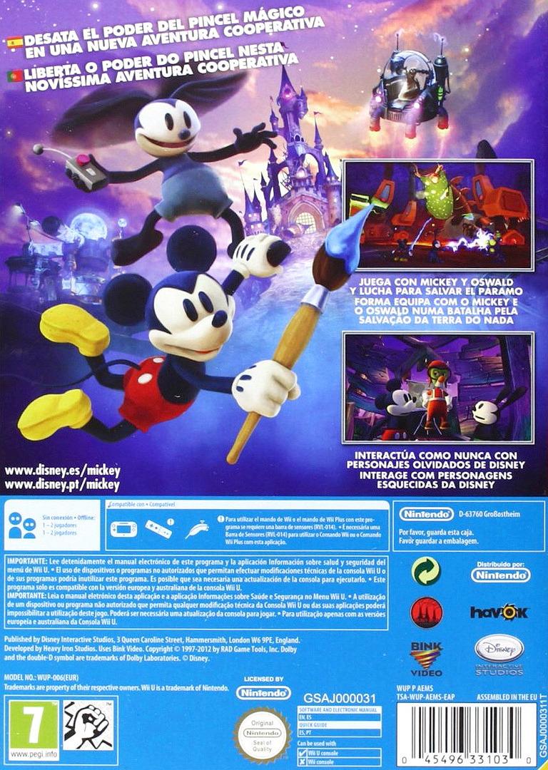 Disney Epic Mickey 2: El retorno de dos héroes WiiU backHQ (AEMS4Q)