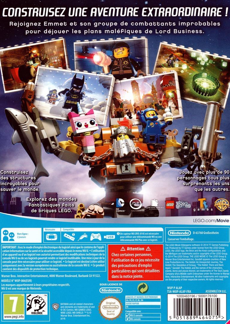 LEGO La Grande Aventure:Le Jeu Video WiiU backHQ (ALAPWR)