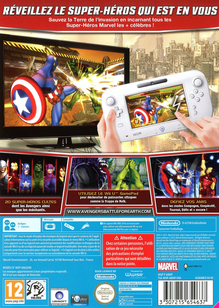 Marvel Avengers: Battle for Earth WiiU backHQ (AMVP41)