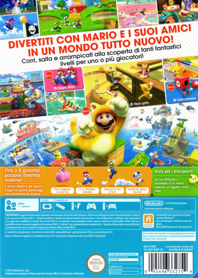 Super Mario 3D World WiiU backHQ (ARDP01)