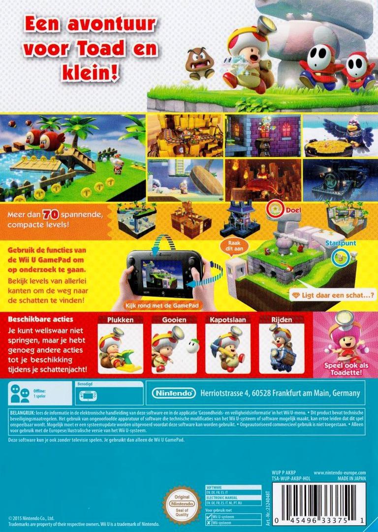 Captain Toad: Treasure Tracker WiiU backHQ (AKBP01)