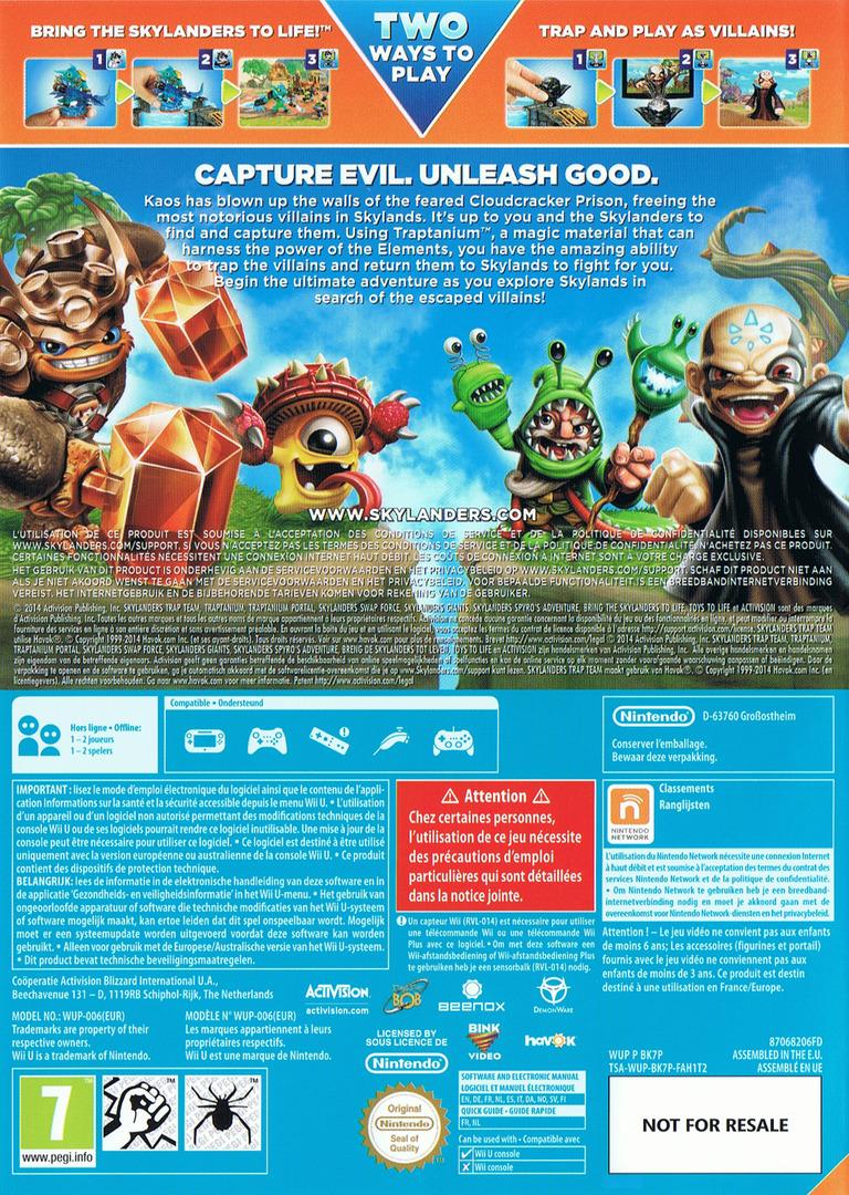 Skylanders: Trap Team WiiU backHQ (BK7P52)