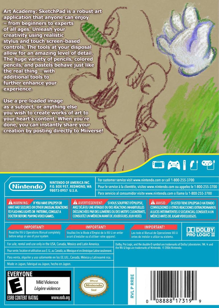 Art Academy: SketchPad WiiU backHQ (AA9E)