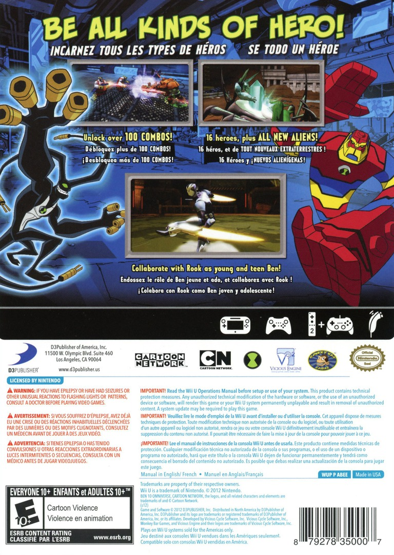 Ben 10: Omniverse WiiU backHQ (ABEEG9)