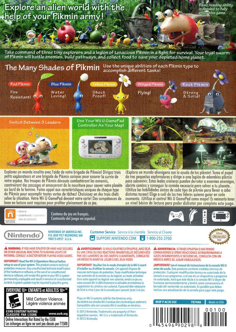 Pikmin 3 WiiU backHQ (AC3E01)