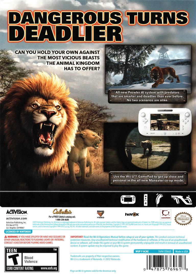 Cabela's Dangerous Hunts 2013 WiiU backHQ (ACAE52)