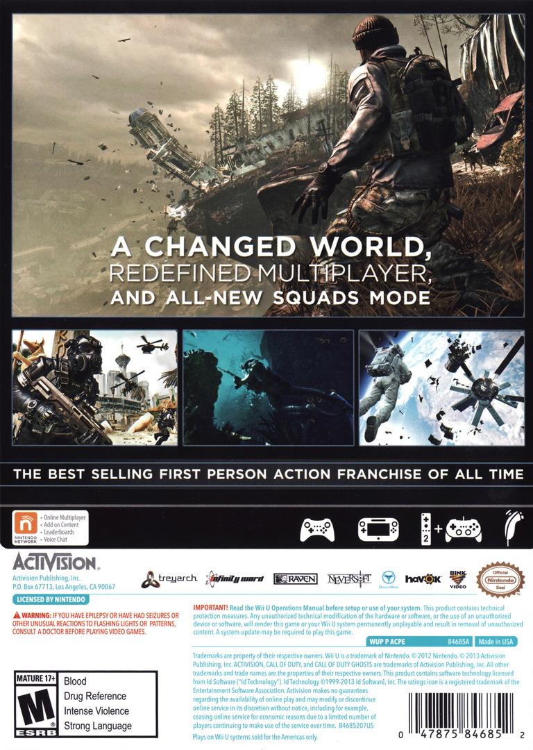 Call of Duty: Ghosts WiiU backHQ (ACPE52)