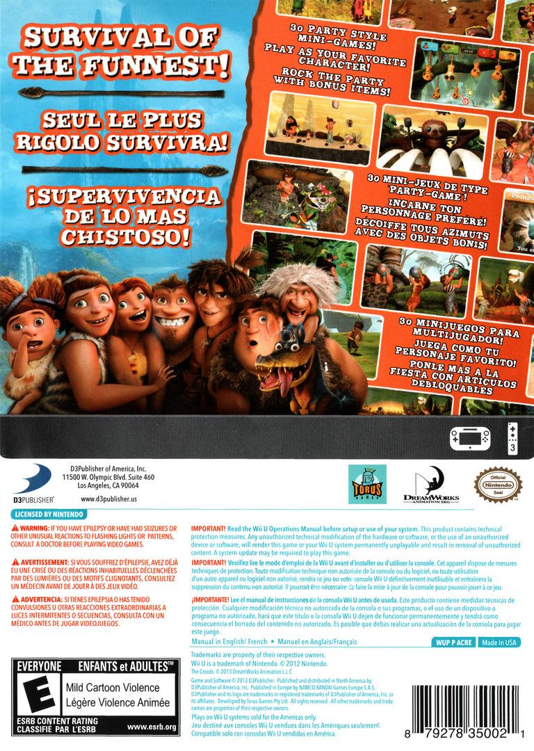The Croods: Prehistoric Party! WiiU backHQ (ACREG9)