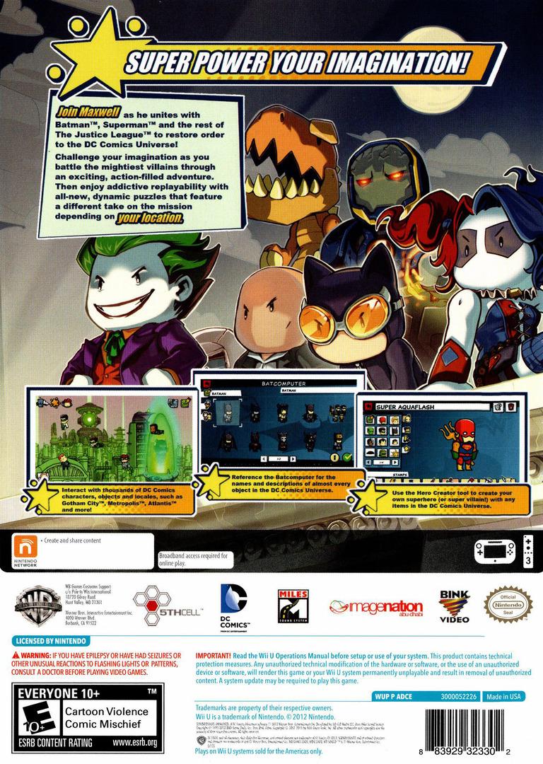 Scribblenauts Unmasked:a DC Comics Adventure WiiU backHQ (ADCEWR)