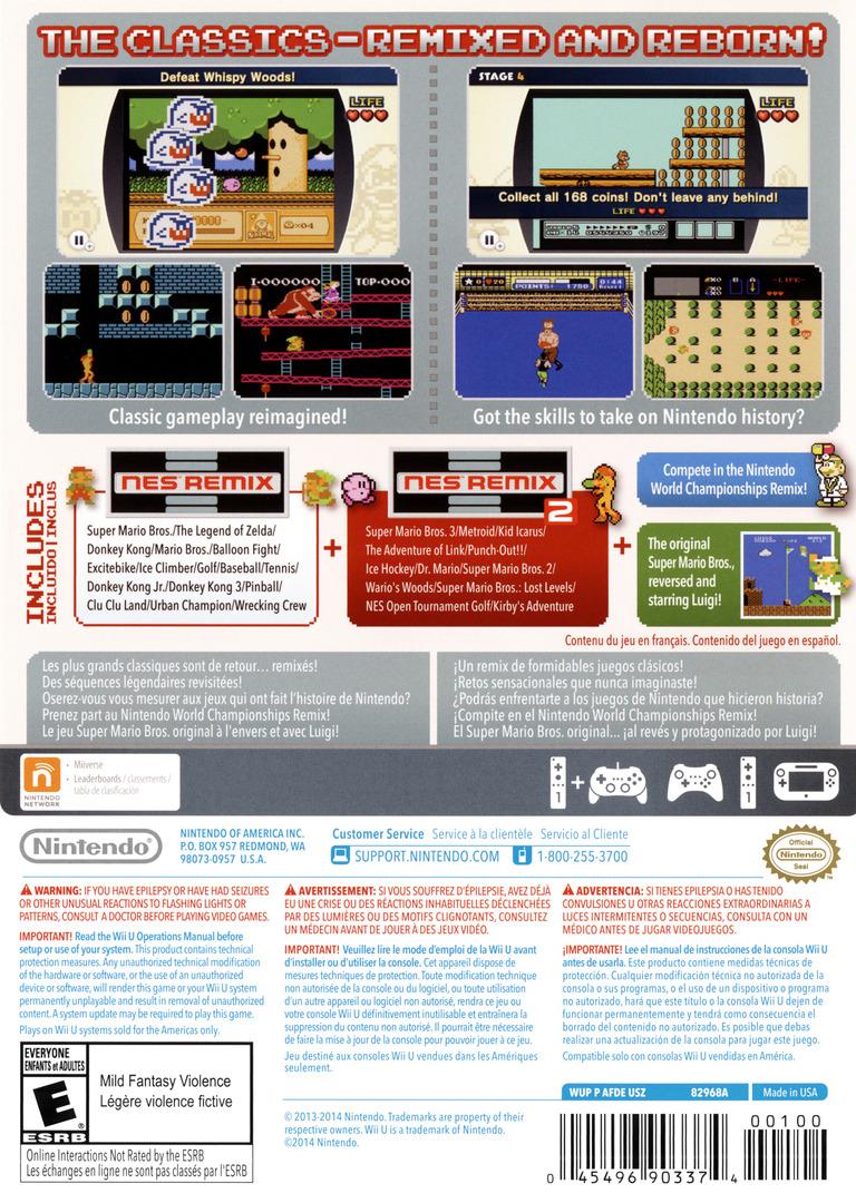 NES Remix Pack WiiU backHQ (AFDE01)