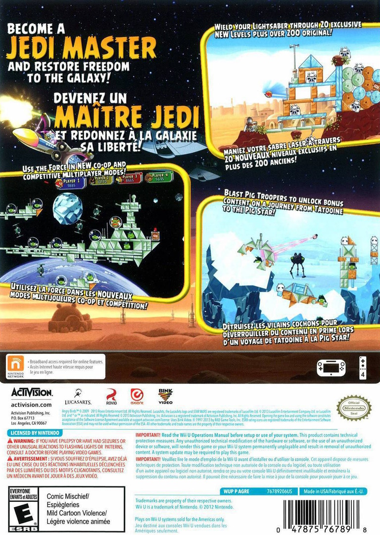 Angry Birds Star Wars WiiU backHQ (AGRE52)
