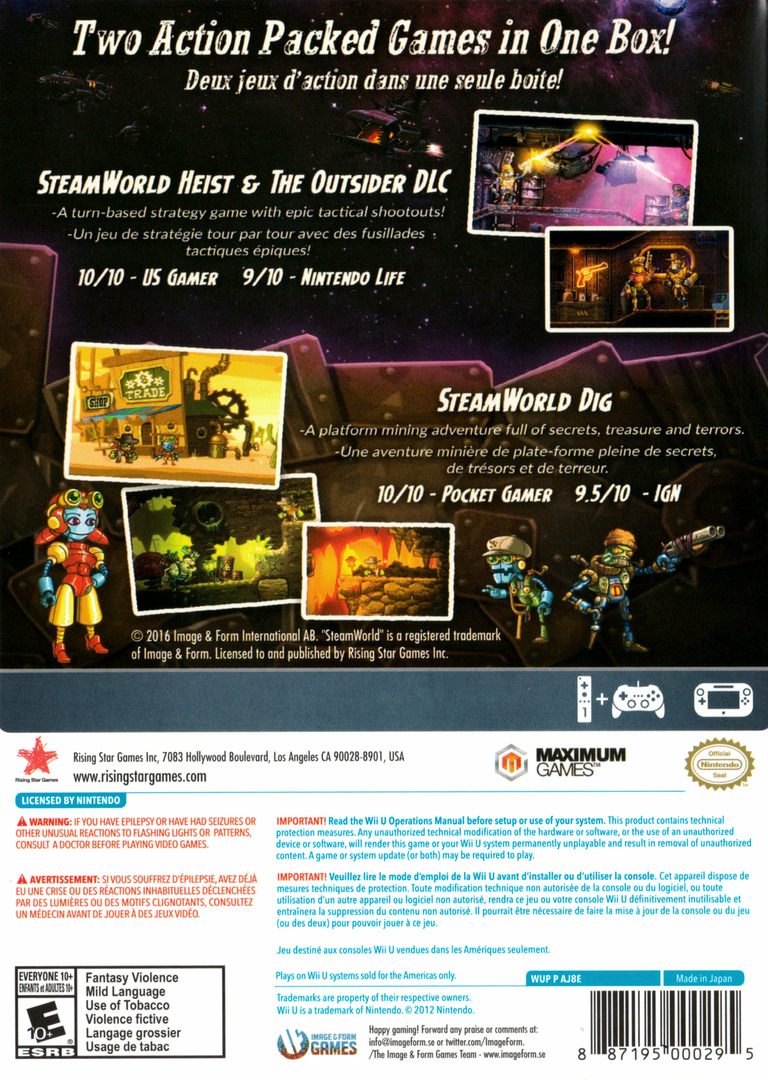 SteamWorld Collection WiiU backHQ (AJ8E99)