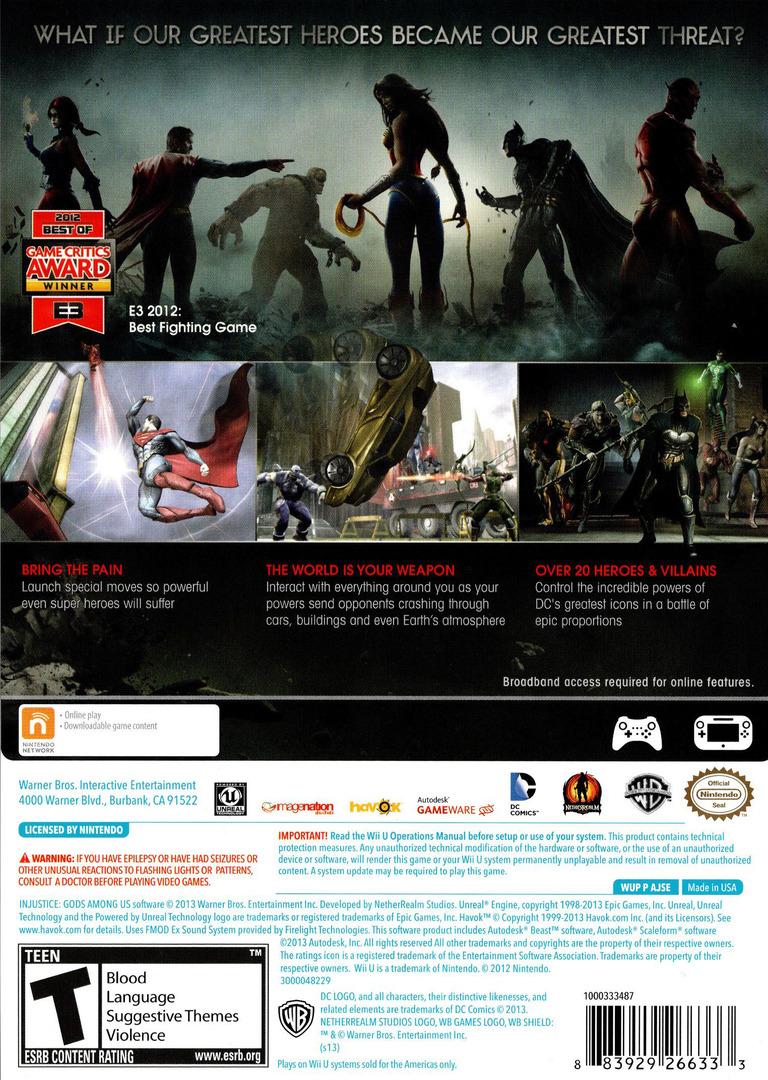 Injustice: Gods Among Us WiiU backHQ (AJSEWR)