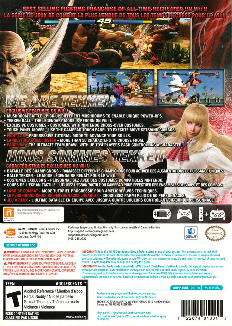 Tekken Tag Tournament 2 WiiU backHQ (AKNEAF)