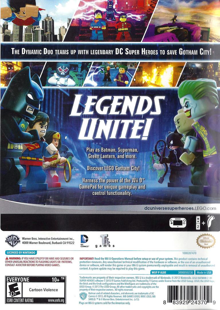 LEGO Batman 2: DC Super Heroes WiiU backHQ (ALBEWR)