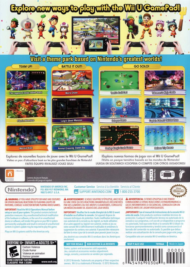 Nintendo Land WiiU backHQ (ALCE01)