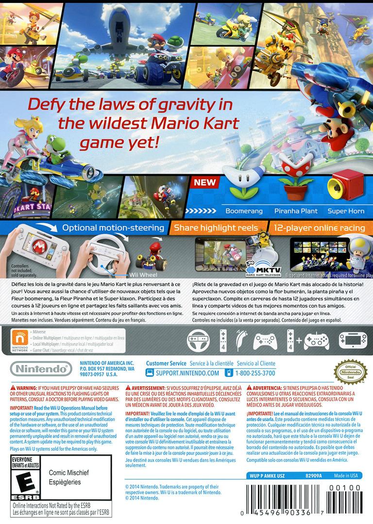 Mario Kart 8 WiiU backHQ (AMKE01)