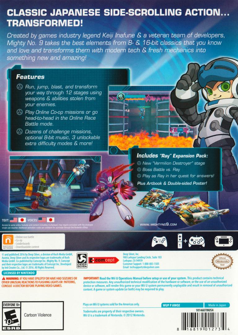 Mighty No. 9 WiiU backHQ (AMQEJJ)