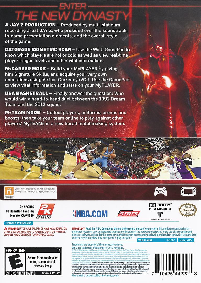 NBA 2K13 WiiU backHQ (ANBE54)