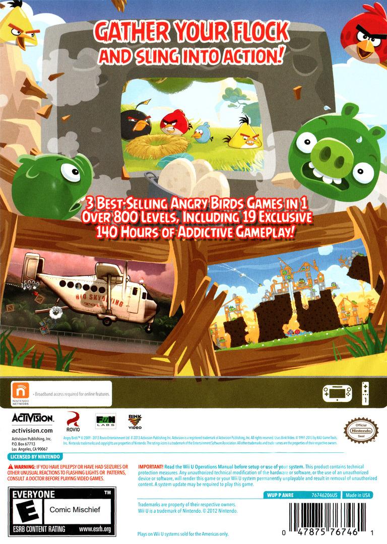 Angry Birds Trilogy WiiU backHQ (ANRE52)