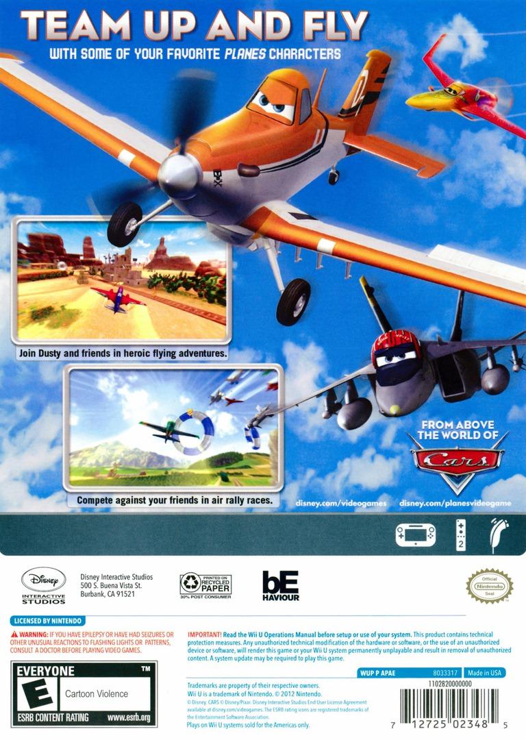 Disney Planes WiiU backHQ (APAE4Q)