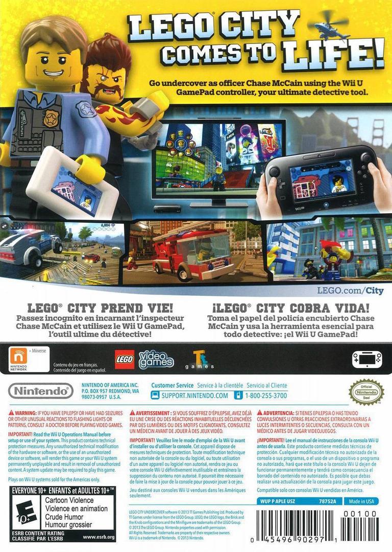 LEGO City Undercover WiiU backHQ (APLE01)