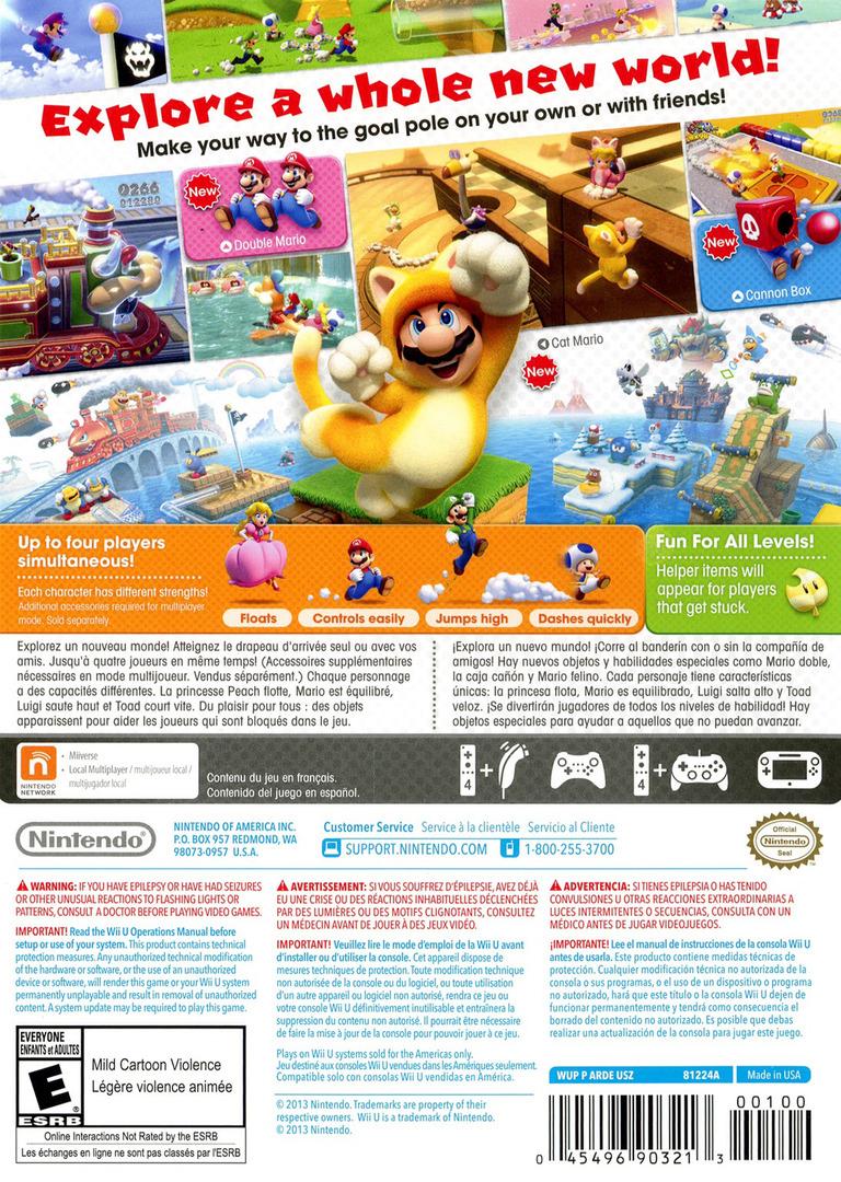 Super Mario 3D World WiiU backHQ (ARDE01)