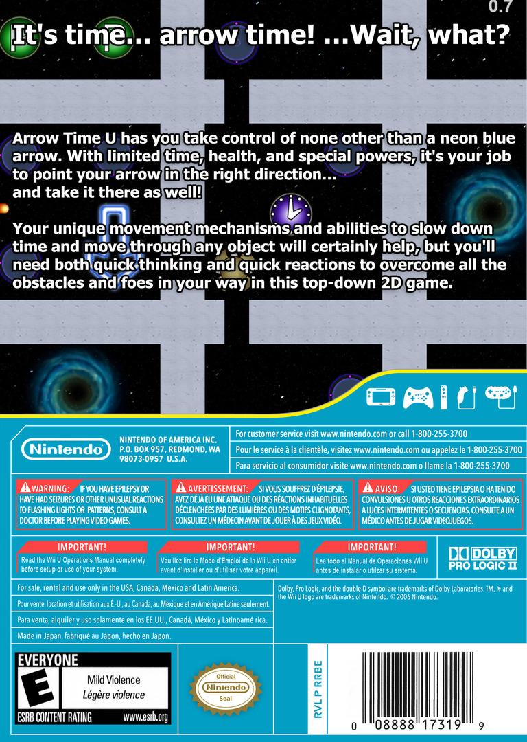 Arrow Time U WiiU backHQ (ARUE)
