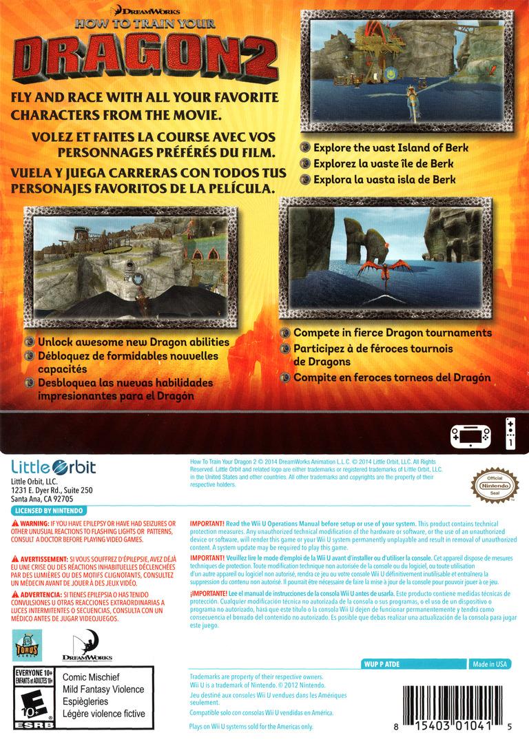 How to Train Your Dragon 2 WiiU backHQ (ATDEVZ)