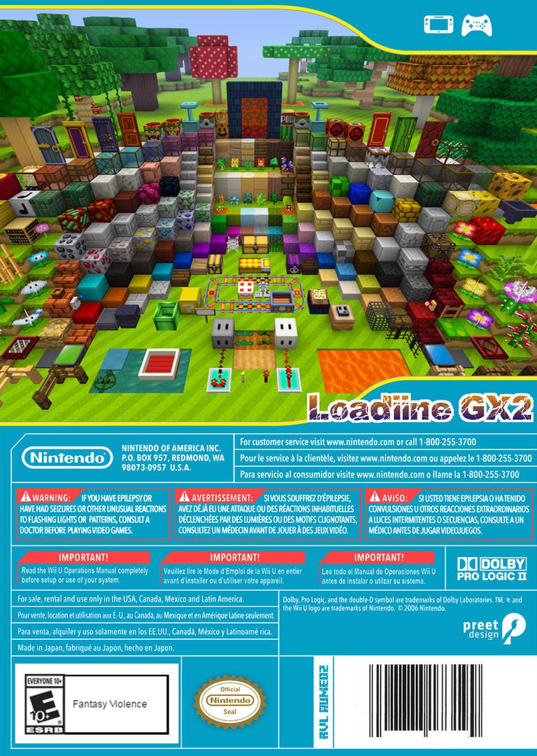 Minecraft: Super Mario Edition WiiU backHQ (AUMED2)