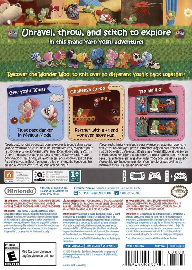 Yoshi's Woolly World WiiU backHQ (AYCE01)