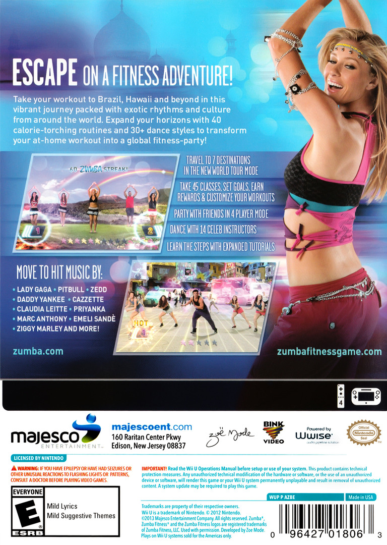 Zumba Fitness World Party WiiU backHQ (AZBE5G)