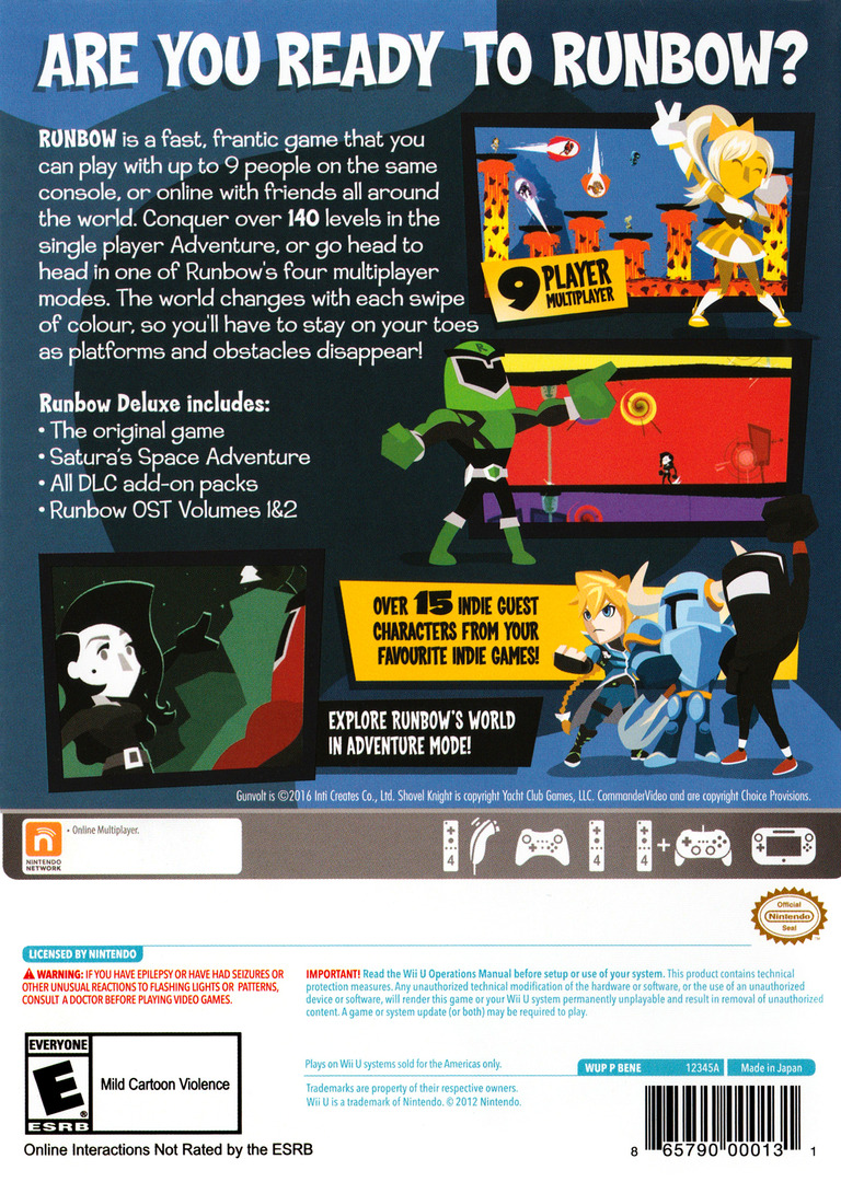 Runbow Deluxe Edition WiiU backHQ (BENE8X)