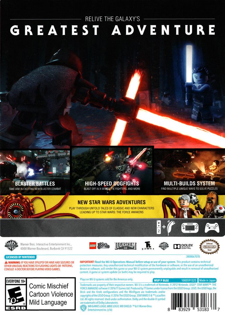 LEGO Star Wars: The Force Awakens WiiU backHQ (BLGEWR)