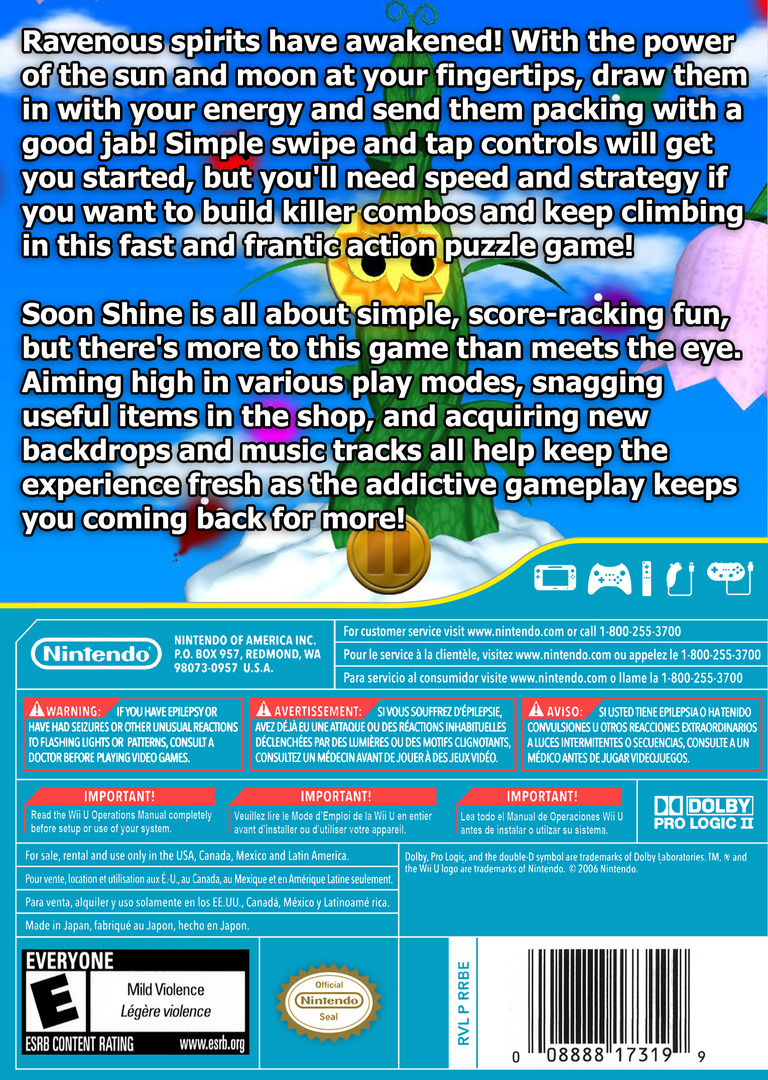 Soon Shine WiiU backHQ (BSNE)