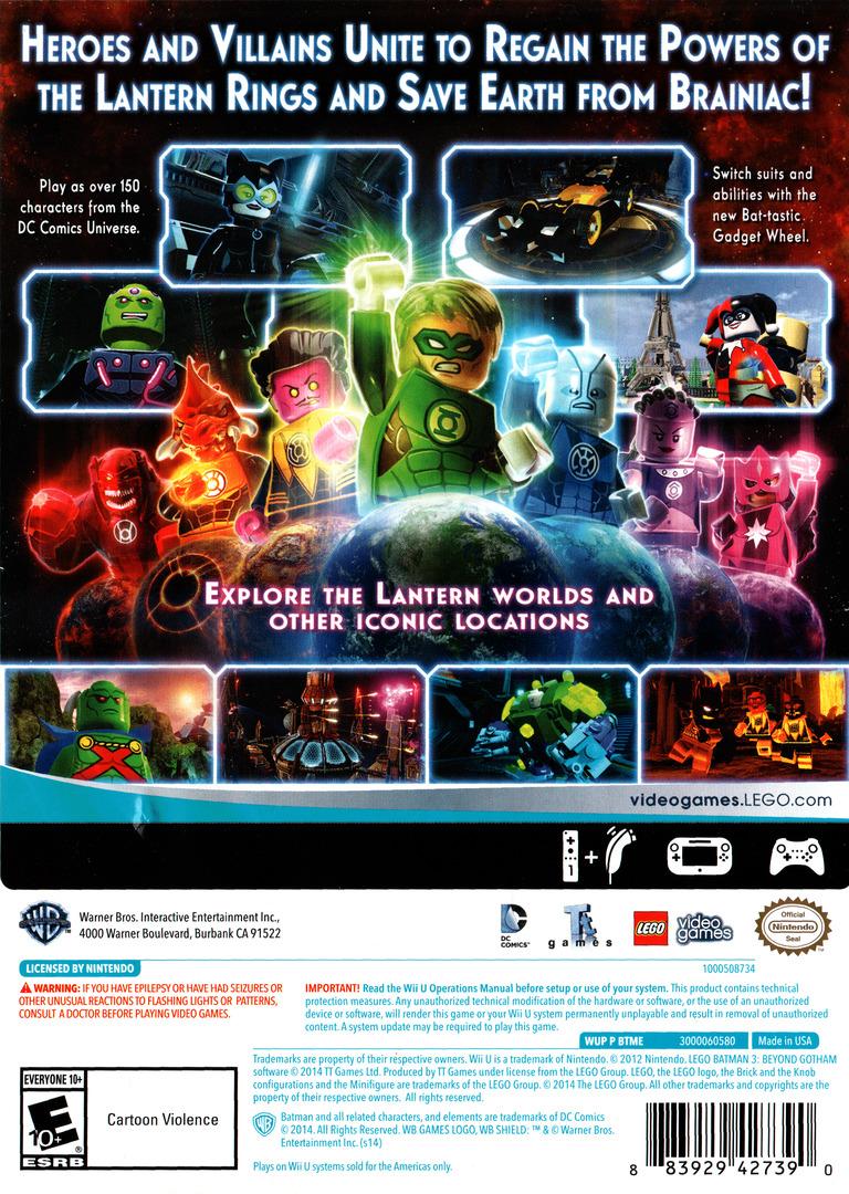 LEGO Batman 3: Beyond Gotham WiiU backHQ (BTMEWR)