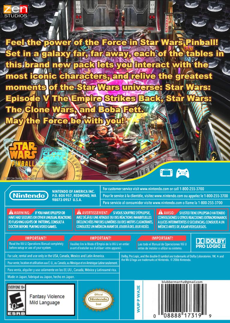 Star Wars Pinball WiiU backHQ (WA2E)