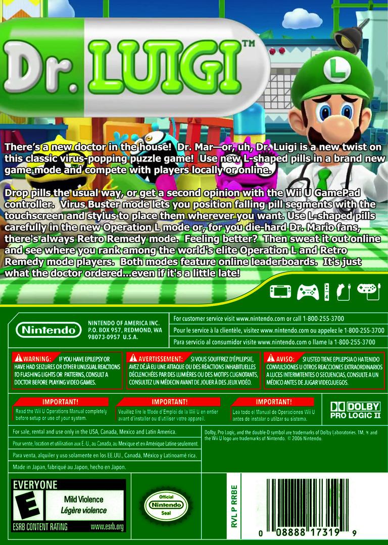 Dr. Luigi WiiU backHQ (WAQE)