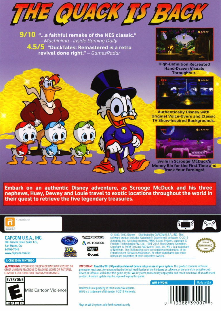 DuckTales: Remastered WiiU backHQ (WDKE08)