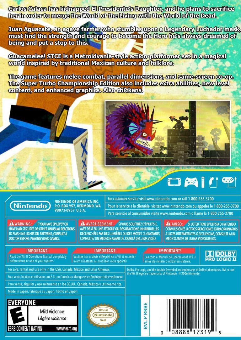 Guacamelee! Super Turbo Championship Edition WiiU backHQ (WGCE)