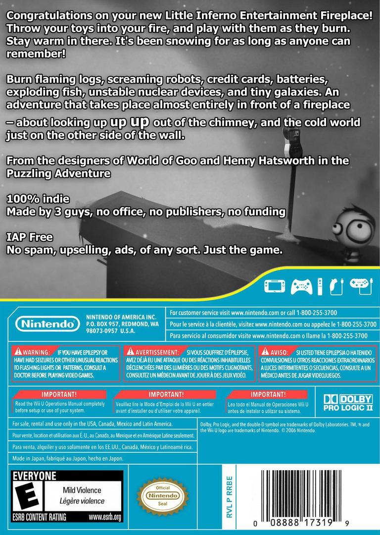 Little Inferno WiiU backHQ (WLFE)