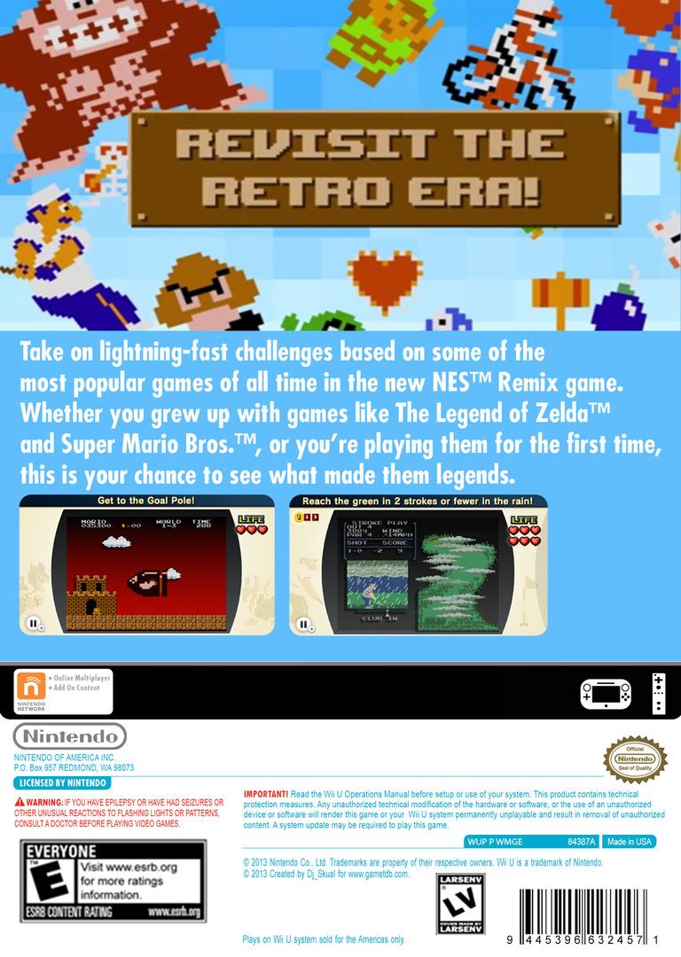 NES Remix WiiU backHQ (WMGE)