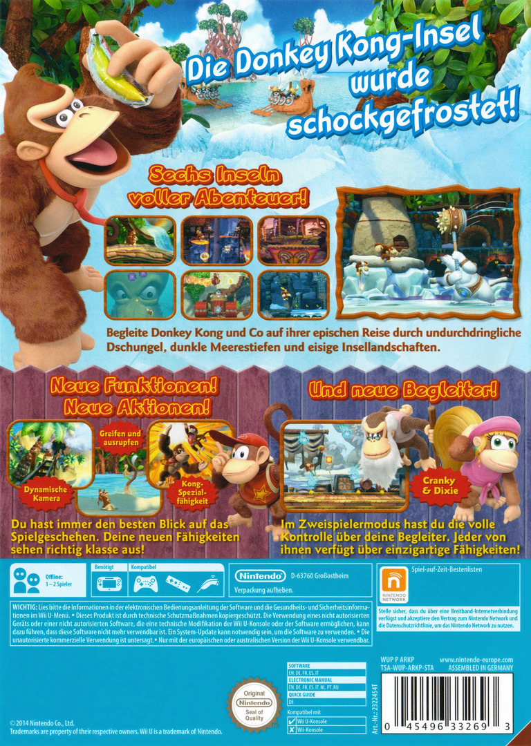 Donkey Kong Country: Tropical Freeze WiiU backHQ2 (ARKP01)