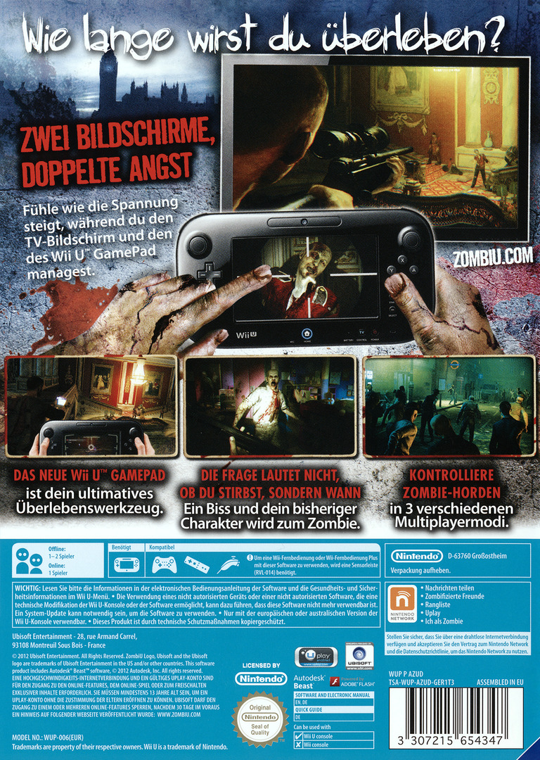 ZombiU WiiU backHQ2 (AZUD41)