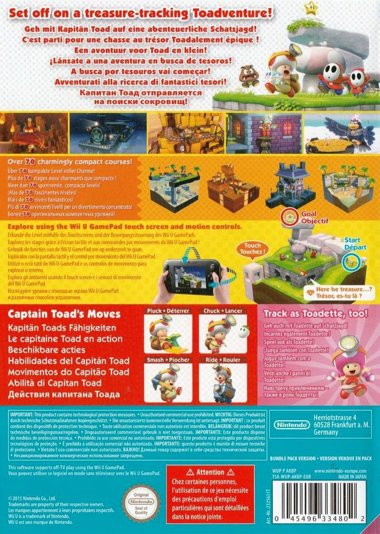 Captain Toad: Treasure Tracker WiiU backHQ2 (AKBP01)
