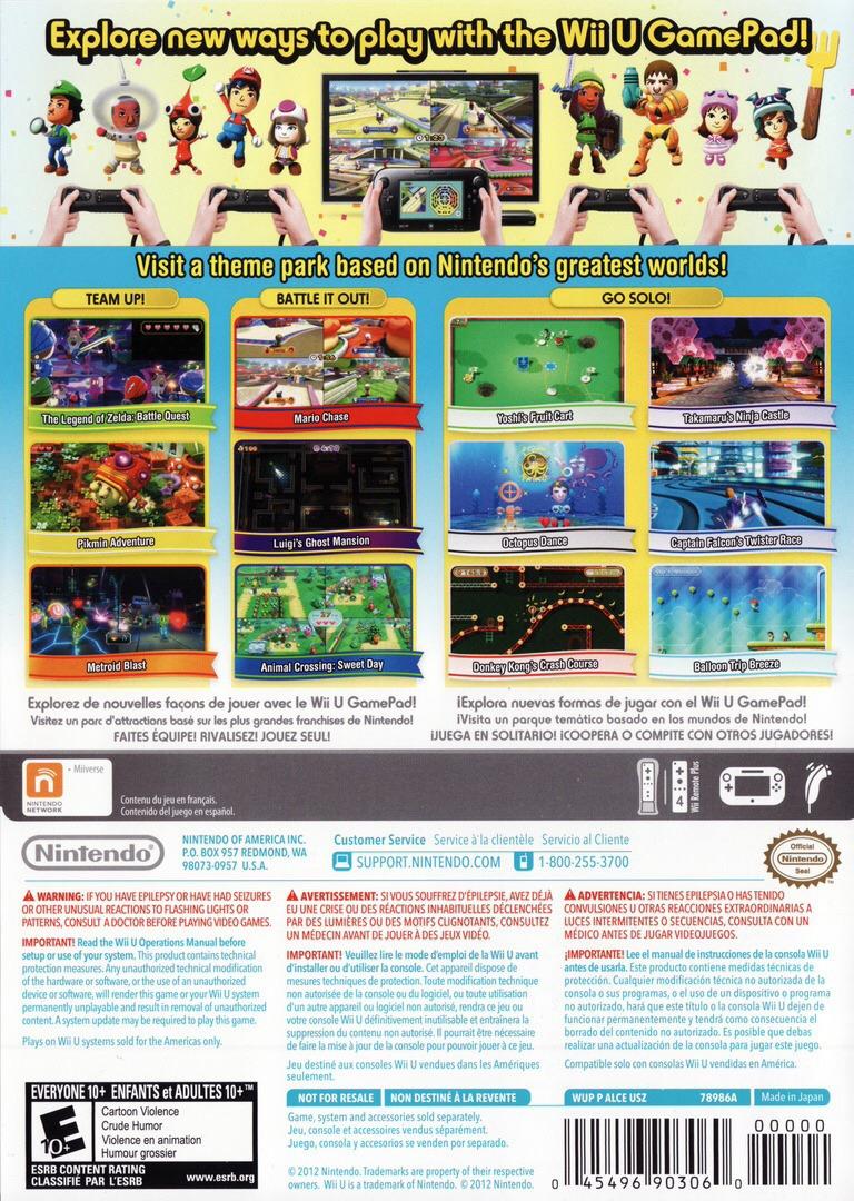 Nintendo Land WiiU backHQ2 (ALCE01)