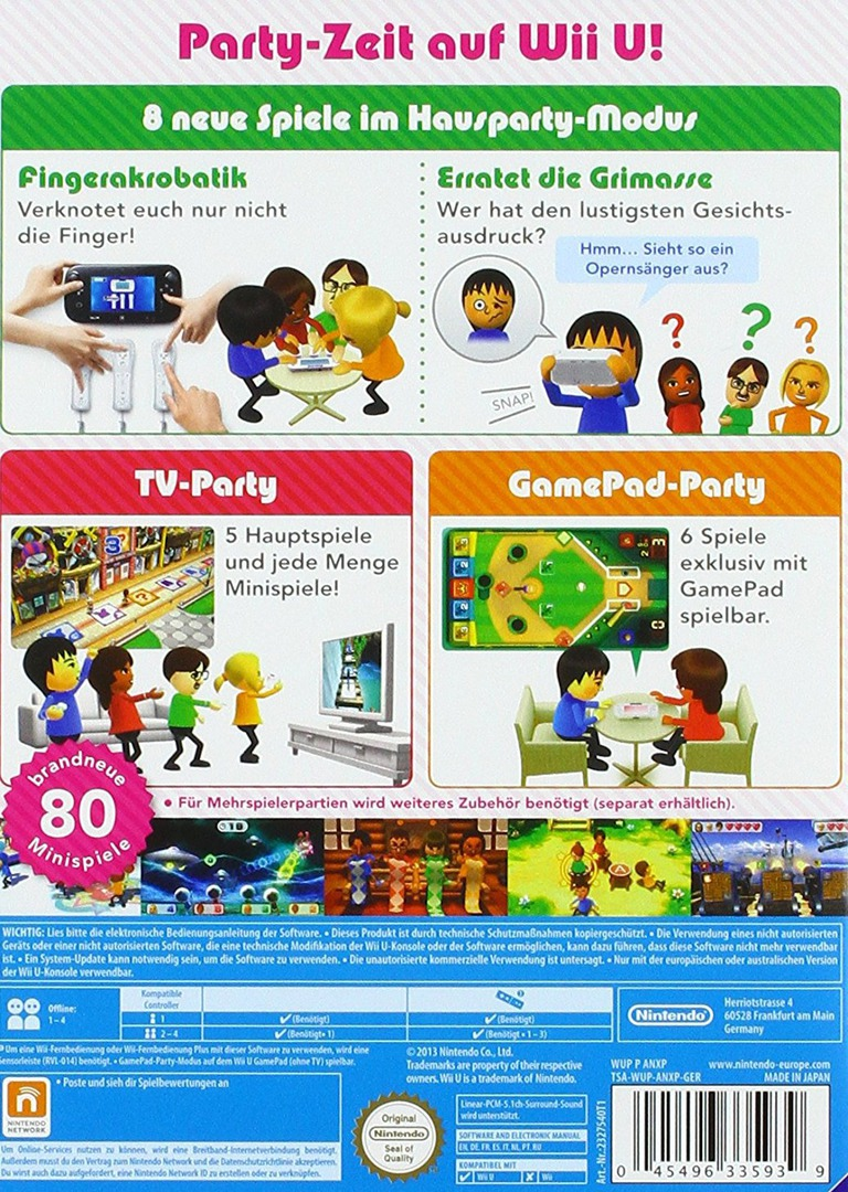 Wii Party U WiiU backHQB (ANXP01)
