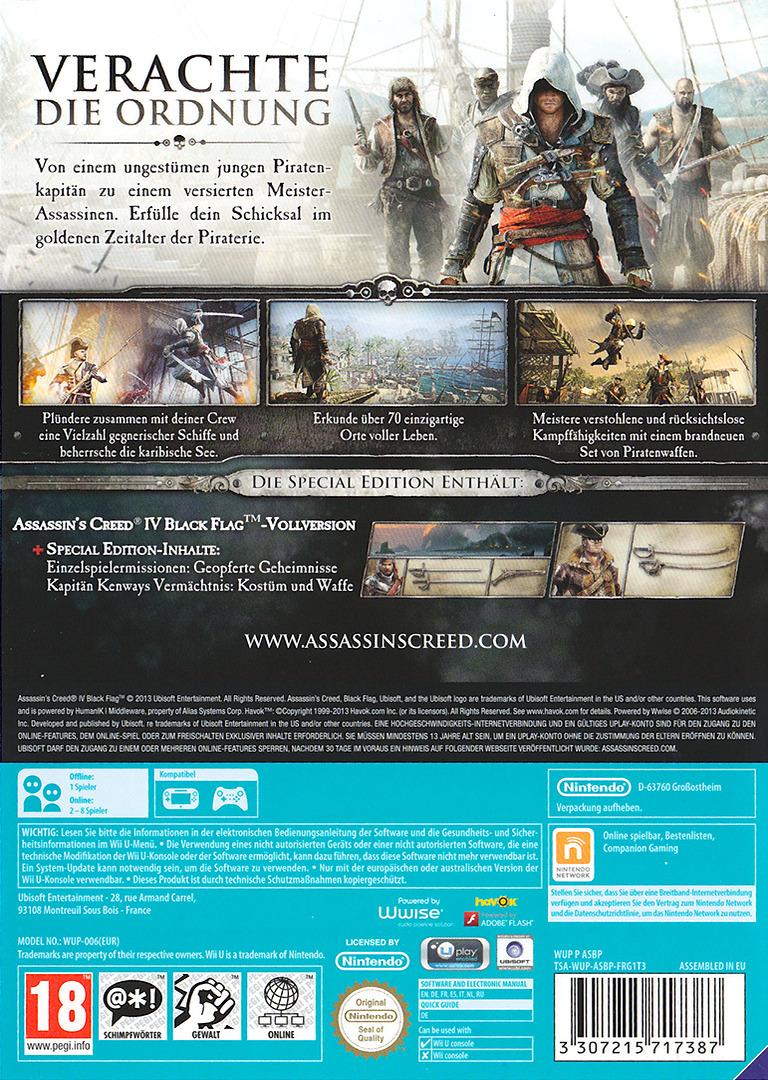 Assassin's Creed IV: Black Flag WiiU backHQB (ASBP41)