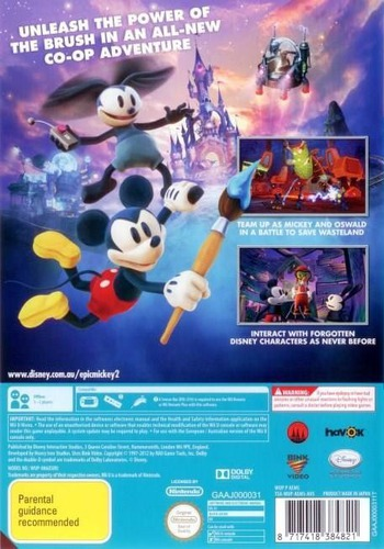 Disney Epic Mickey 2: The Power of Two WiiU backM (AEMS4Q)