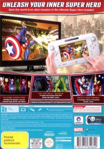 Marvel Avengers: Battle for Earth WiiU backM (AMVP41)